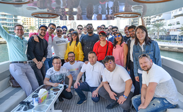 FIDU Properties Sales Team Yacht Party